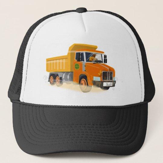 8d556f0bb5a Yellow Dump Truck Cartoon for Kids Trucker Hat