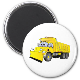 Yellow Dump Truck Cartoon Magnet