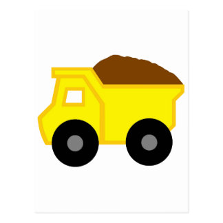 Yellow Dump Truck Postcard