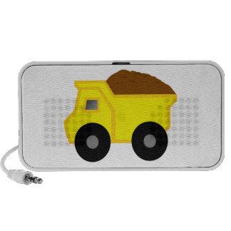 Yellow Dump Truck Travel Speaker