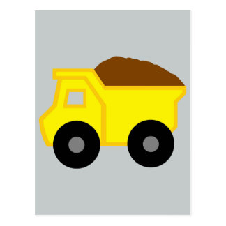 Yellow DumpTruck Postcard