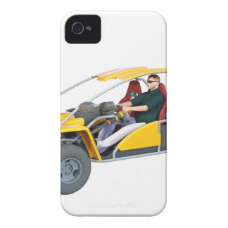 Yellow Dune Buggy iPhone 4 Case-Mate Case