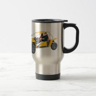 Yellow Dune Buggy Travel Mug
