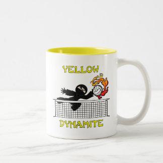 Yellow Dynamite Two-Tone Coffee Mug