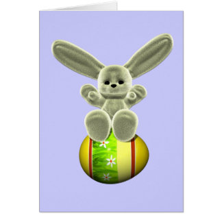 Yellow Easter Bunny Card