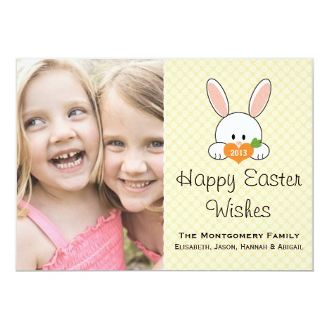 Yellow Easter Bunny Photo Card