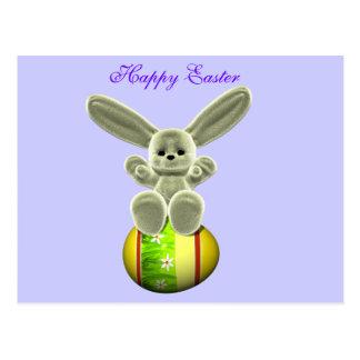 Yellow Easter Bunny Postcard