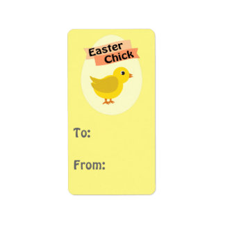 Yellow Easter Chick Personalized Address Labels
