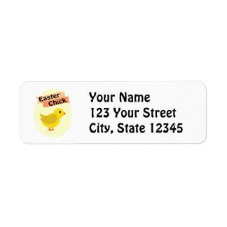 Yellow Easter Chick Return Address Label