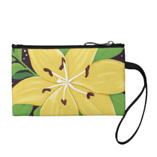 Yellow Easter Lily Digital Painting Clutch
