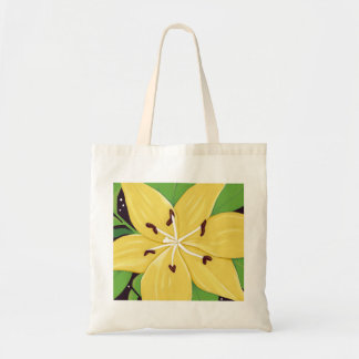 Yellow Easter Lily Digital Painting Tote Bag
