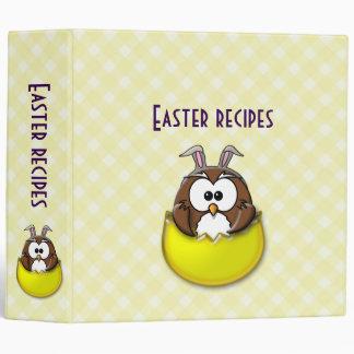 yellow Easter owl - binder