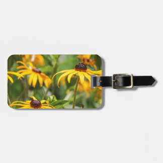yellow echinacea bag tag