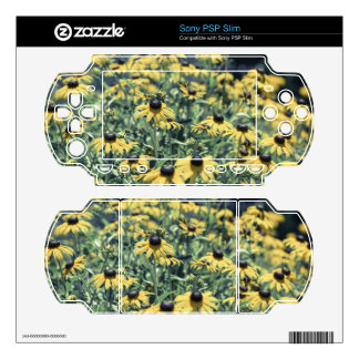 Yellow Echinacea Flowers Decal For PSP Slim