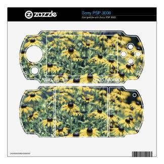 Yellow Echinacea Flowers PSP 3000 Skins