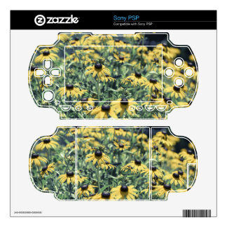 Yellow Echinacea Flowers Skin For The PSP