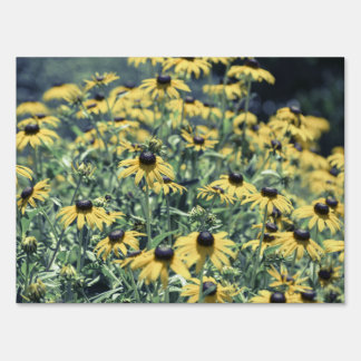 Yellow Echinacea Flowers Yard Sign