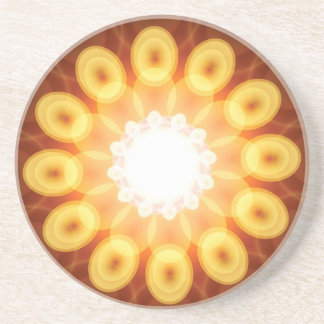 Yellow Egg Yolks in Digital Abstract Beverage Coaster