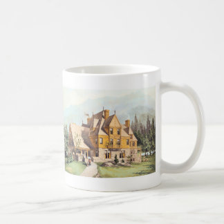 Yellow Elaborate Victorian Style Homes Coffee Mug
