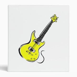 yellow electric guitar music graphic.png 3 ring binder