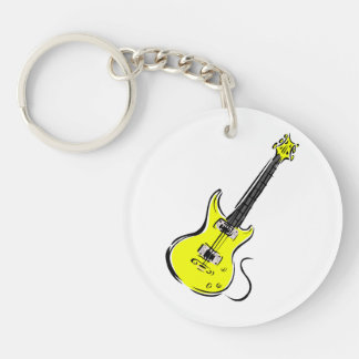 yellow electric guitar music graphic.png keychain