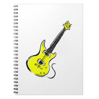 yellow electric guitar music graphic.png spiral notebook