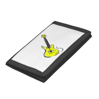 yellow electric guitar music graphic.png tri-fold wallets