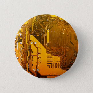 yellow electronic circuit board computer chip moth button