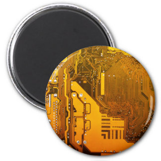 yellow electronic circuit board computer chip moth magnet