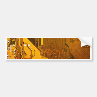 yellow electronic circuit board.JPG Bumper Sticker