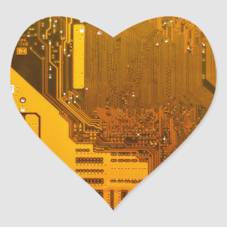 yellow electronic circuit board.JPG Heart Sticker