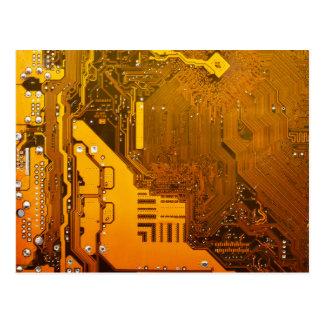 yellow electronic circuit board.JPG Postcard