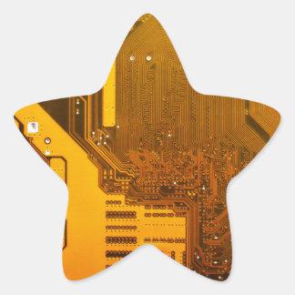 yellow electronic circuit board.JPG Star Sticker