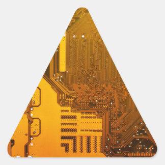 yellow electronic circuit board.JPG Triangle Sticker