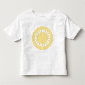 Yellow Elegant Round Design. Art Deco Style. Toddler T-shirt