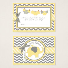 Yellow Elephant Bird And Diaper Raffle Ticket at Zazzle