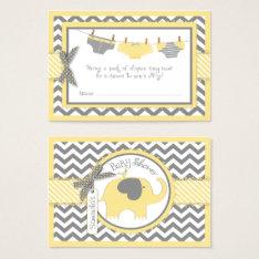 Yellow Elephant Bird And Diaper Raffle Ticket at Zazzle