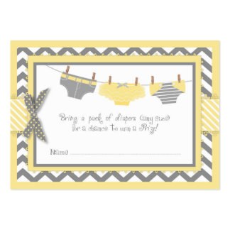 Yellow Elephant Bird and Diaper Raffle Ticket Large Business Card