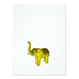 Yellow Elephant Card