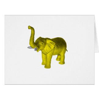 Yellow Elephant Card
