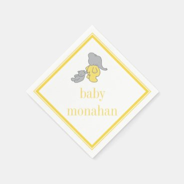 Toddler & Baby themed Yellow Elephant | Cocktail Napkin