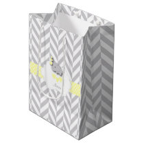 Yellow Elephant Design - Baby Shower Medium Gift Bag