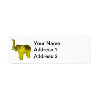 Yellow Elephant Label