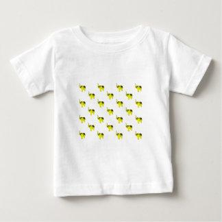 Yellow Elephant Pattern Baby T-Shirt