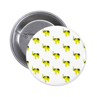 Yellow Elephant Pattern Buttons