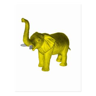 Yellow Elephant Postcard