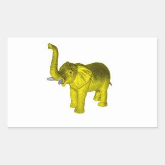 Yellow Elephant Rectangular Sticker