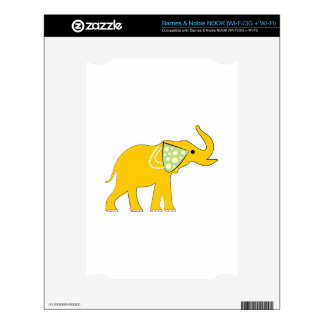 Yellow Elephant Skin For NOOK