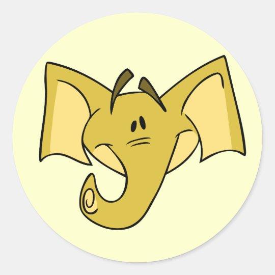 Yellow Elephant Stickers