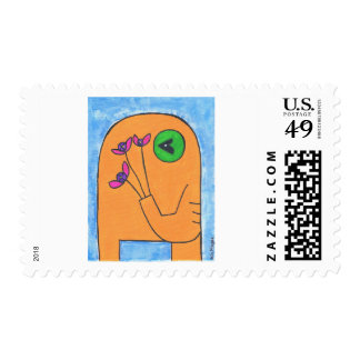 yellow elly Postage Stamp